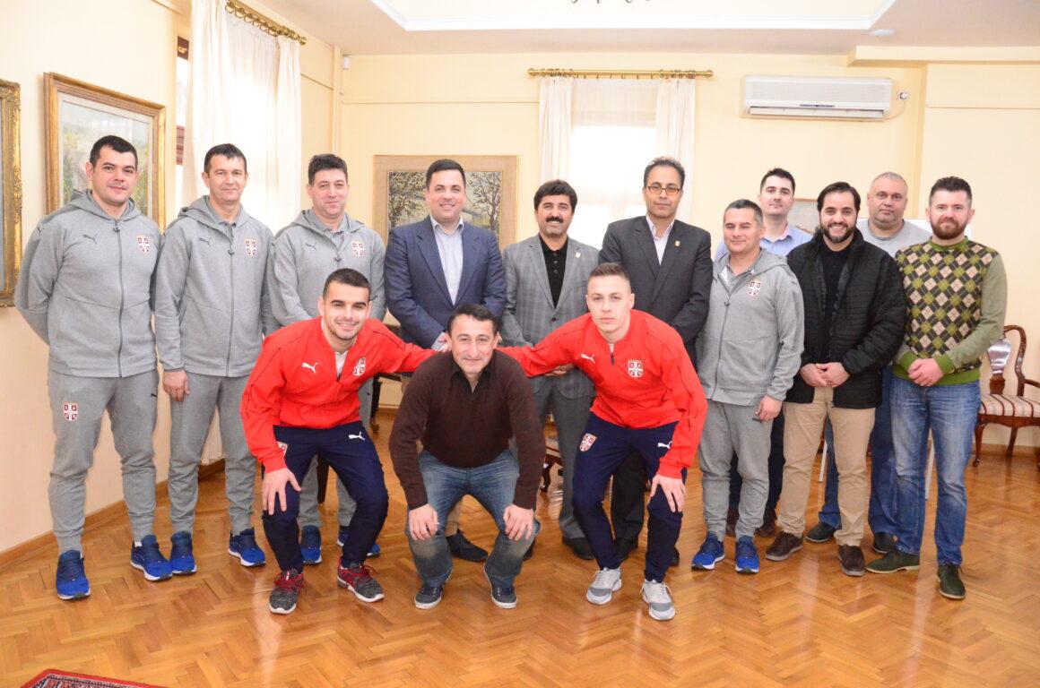 Пријем за футсал репрезентације Србије и Ирана