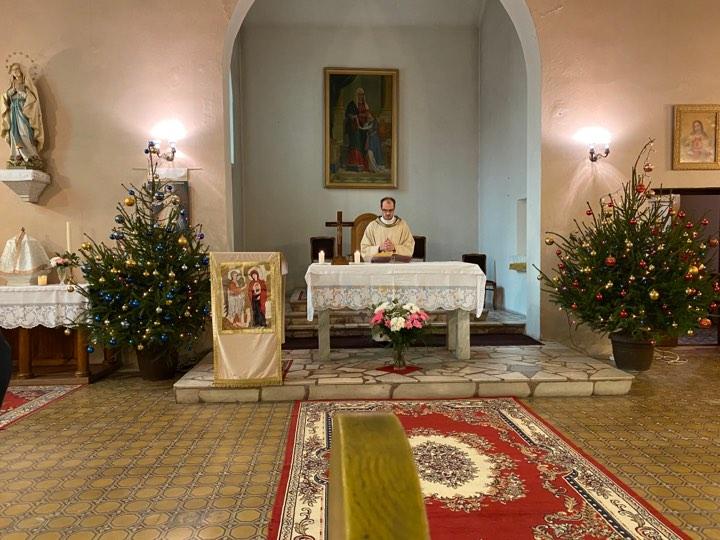 Божићна миса у цркви Свете Ане у Шапцу