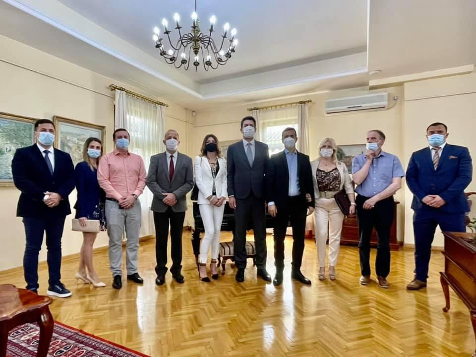 Састанак  са Алесандром Весковинијем поводом проширења пословања у Шапцу